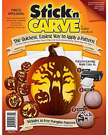 Stick 'n Carve Pumpkin Patterns