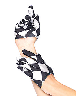 Mini Cropped Harlequin Gloves
