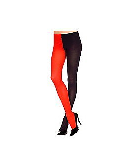 Black and Red Plus Size Tights