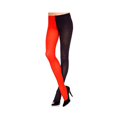 Black and Red Adult Plus Size Tights