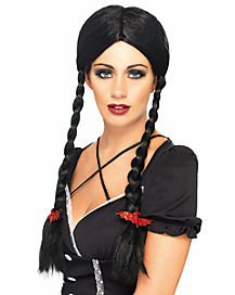 Gothic School Girl Pigtail Wig