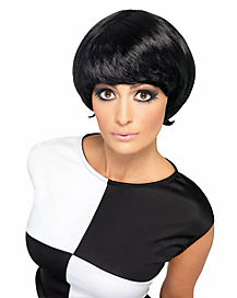 Black 60s Psychedelic Wig
