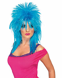 Hot Blue Rock Diva Wig