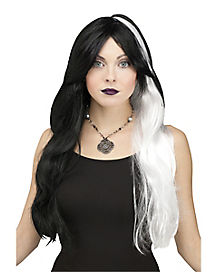 Black and White Fashion Horror Wig