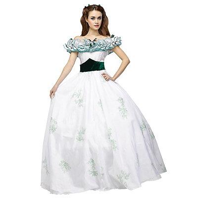 VictorianInspiredWomensClothing Adult Twelve Oaks Scarlett OHara Costume - Gone with the Wind $149.99 AT vintagedancer.com