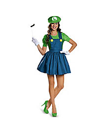 Mario Bros. Luigi Dress Womens Costume