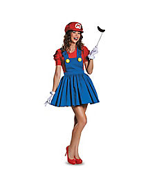 Adult Mario Dress Costume - Mario Bros