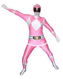 Adult Pink Ranger Bodysuit Costume - Mighty Morphin Power Rangers