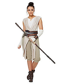 Star Wars Force Awakens Rey Deluxe Womens Costume