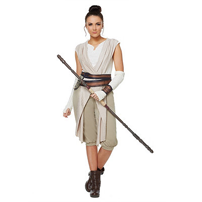 Star Wars Episode VII Force Awakens Rey Deluxe Womens Costume