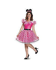 Adult Glam Pink Minnie Mouse Costume - Disney