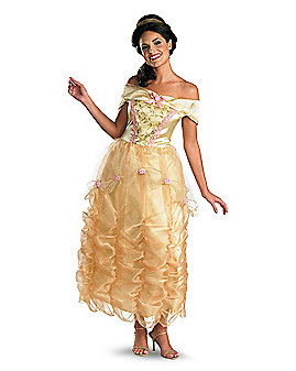 Adult Long Dress Belle Costume - Beauty and the Beast