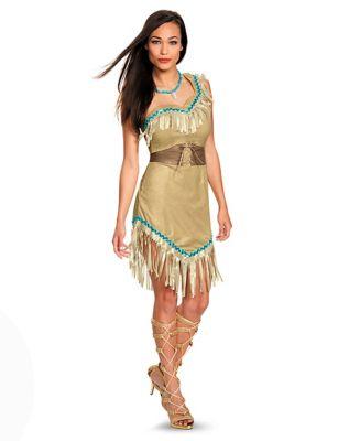 Adult Pocahontas Costume Deluxe - Disney - Spirithalloween.com - 웹