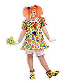 Adult Dottie the Clown Plus Size Costume