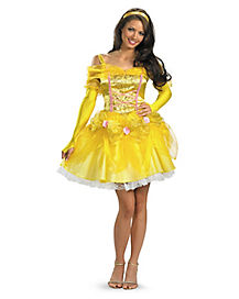 Adult Belle Costume Deluxe - Beauty and the Beast