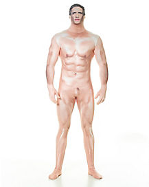 Adult Naked Sexy Man Skin Suit  Costume