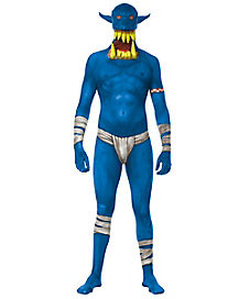 Adult Blue Orc Skin Suit Costume