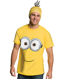 Shirt and Hat Minions Costume - Despicable Me