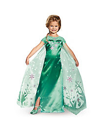 Frozen Fever Deluxe Elsa Girls Costume