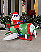 4.5 Ft Santa on Flying Machine Inflatable - Decoration