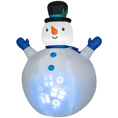 Panoramic Projection Snowman Airblown Inflatable