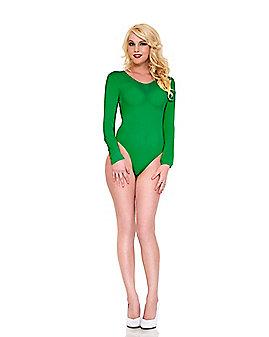 Long Sleeve Green Bodysuit