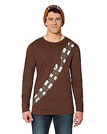 Adult Long Sleeve Chewbacca T-Shirt - Star Wars