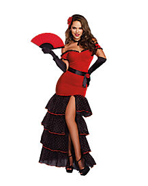 Sultry Flamenco Dancer Adult Womens Costume