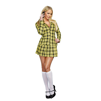 Fancy Girl Adult Womens School Girl Costume