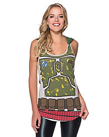 Hooded Boba Fett Star Wars Tank Top