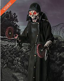 7 Ft Looming Saw Zombie Animatronics - Decorations