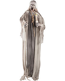 5.5 ft Standing Ghoul with Candle and Noose - Decorations