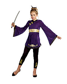 Kids Lotus Warrior Ninja Costume
