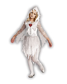 Kids Sweet N Spooky Ghost Skeleton Costume