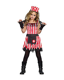 Creepy Candy Striper Zombie Child Costume