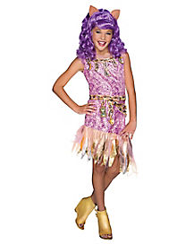 Kids Clawdeen Wolf Costume - Monster High Haunted