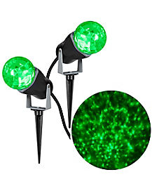 Green Fire and Ice Spot Light