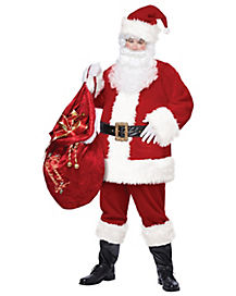 Adult Santa Claus Costume - Deluxe