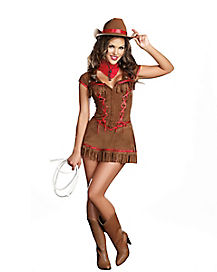 Adult Giddy Up Cowgirl Costume