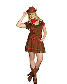 Adult Giddy Up Cowgirl Plus Size Costume