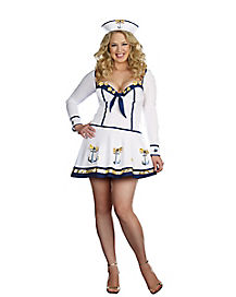 Adult Making Waves Sailor Plus Size Costume