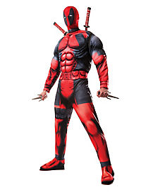 Adult Deadpool Costume Deluxe- Marvel