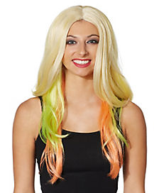 Adult Rainbow Ombre Wig