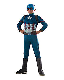 Kids Capt America Costume Deluxe-Marvel Civil War