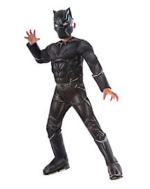Kids Black Panther Costume Deluxe-Marvel Civil War