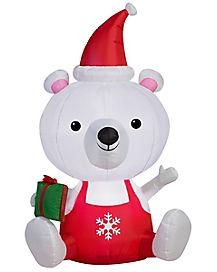 5 ft Big Head Polar Bear Inflatable