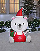 5 ft Big Head Polar Bear Inflatable - Decoration