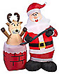 4Ft Stuck Reindeer Inflatable - Decoration