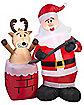 4Ft Stuck Reindeer Inflatable - Decoration