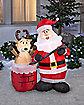 4Ft Stuck Reindeer Inflatable